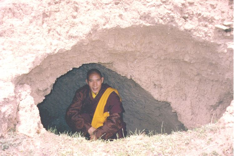 Rinpoche in His Retreat Cave in Tibet