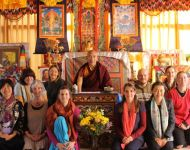 Rinpoche and Cape Town Group after Ngondro Teachings