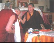Teaching Transmission and Blessing the Temple at Tosamling Monastery India
