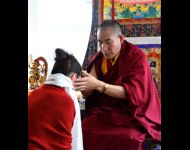 Netherlands - Blessing Student during Losar Event