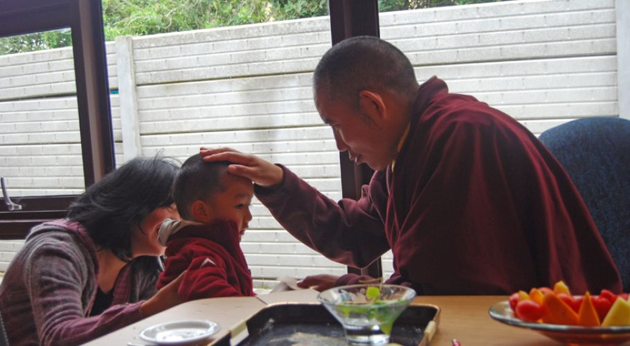 Rinpoche Blessing Young Boy in Cape Town