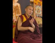 UK 2014 -Tarset retreat  -3 - Rinpoche teaching